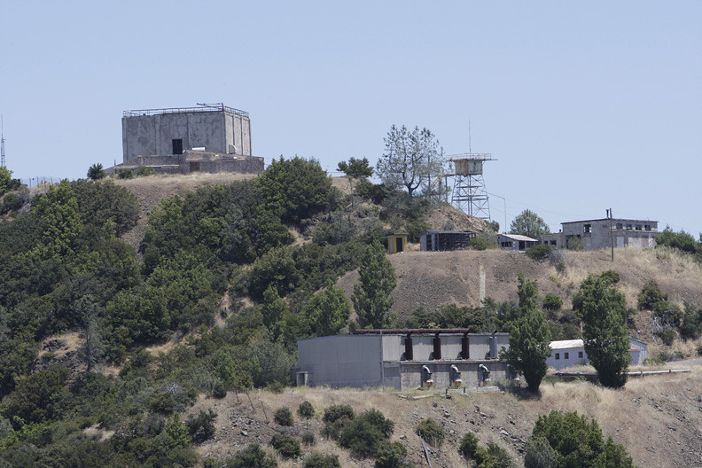 2010: The former Almaden Air Force Station is the backdrop of the Mt. Umunhum Restoration Project ceremonial groundbreaking. (Gary Reyes /Mercury News)